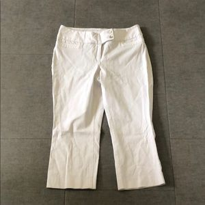 Alfani White Crop Pants Size 8P